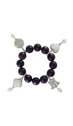 Dara Loft - Bowerhaus - Lucky Bracelet - Dark Purple Agate USD85.00  International Shipping Available - email us for shipping quotes  sales@daraloft.com