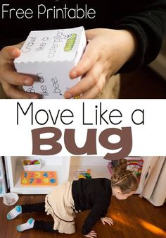 Preschoolers will love this gross motor movement game! Roll the cube and act out the insect! How fun!!
