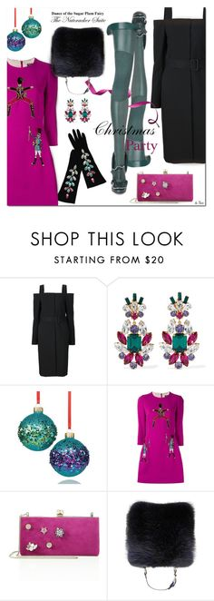 """""""CHRISTMAS PARTY, The Nutcracker"""" by deneve ❤ liked on Polyvore featuring Vera Wang, Dolce&Gabbana, Holiday Lane, Jimmy Choo, Yves Saint Laurent, Christmas and winterfashion"""