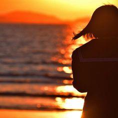 #過去撮影 #海 #反射 #後ろ姿 #夕焼け #セーラー服 #ポートレート #カメラが好きな人と繋がりたい #一眼レフ #sea #Reflection #back_shot #sunset #portraits