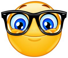 Download Emoticon con gli occhiali illustrazione vettoriale. Illustrazione di cute - 96405295