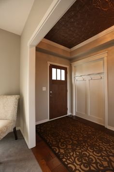 Mouldings | use crown molding to have a beautiful transition from wall to decorative ceiling | Bayer Built Woodworks