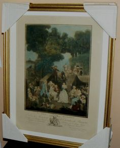 ANTIQUE HAND COLORED ENGRAVING DATED 1789