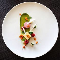 Raspberry Panna Cotta, White Chocolate, Rose Ganache, Mint Gel, Sea Buckthorn. ✅ By - @vidal31 ✅ #ChefsOfInstagram