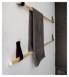 hacer colgador para toallas