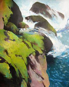 Randall David Tipton - Creek-Rapid-20x16-