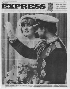 July 29, 1981: Lady Diana Spencer marries Prince Charles at St. Paul's Cathedral in London. Royal Wedding - Princess Diana Remembered