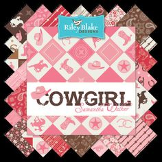 "Cowgirl - Charm Pack (42) 5"" squares - #supplies @EtsyMktgTool http://etsy.me/2rJkXoF #rileyblake #fabric #stacker #precut #charm"