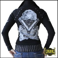 Marilyn Zip-Up Collar | Biker Clothing | Women's & Men's Motorcycle Apparel | Biker Clothing Company