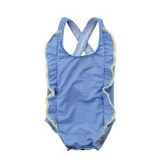 Renee Ruffle Cross Back Striped Swimsuit from kidspetite.com! Adorable & affordable baby, toddler & kids clothing. Shop from one of the best providers of children apparel at Kids Petite. FREE Worldwide Shipping to over 230+ countries ✈️ www.kidspetite.com #girl #baby #beach #swim #swimwear #newborn #infant #swimsuit Baby Girl Swimwear, Baby Girl Swimsuit, Swimsuit Material, Bath Girls, Girls Bathing Suits, Two Piece Swimwear, Striped Swimsuit, Beachwear, Kids Outfits