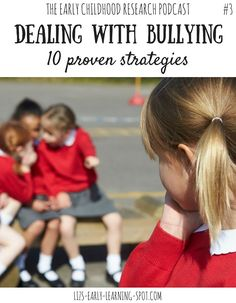 Bullying, and being bullied, can start from a very young age. Find out the strategies that researchers have found to be effective in dealing with bullying. FREE poster.
