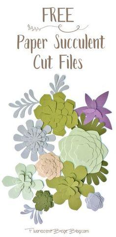 Suculenta livre Livro Arquivos Cut!  Arquivos de estúdio e SVG!