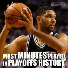 SPURS TIM DUNCAN. NBA RECORD