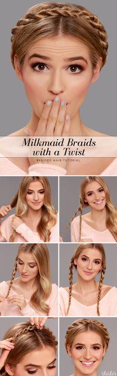 Milkmaid Braid with a Twist Hair Tutorial at LuLus.com!
