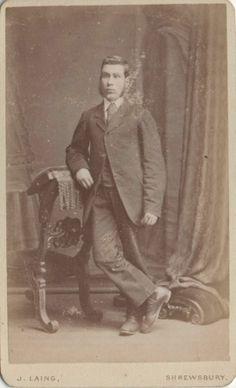 CDV Handsome Victorian Man Sideburns Suit Fashion - Laing of Shrewsbury 1870s