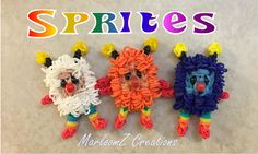 Rainbow Loom Sprites ( Twink Sprite )  Rainbow Brite - 1980s cartoon - Loom Bands