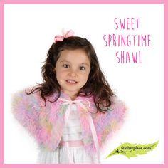 Sweet Springtime Feather Shawl DIY