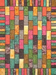 Bricks and Keys with Pop Quilt Pattern -- this would look good in jewel tone colors.  I can also see this in the various seasonal colors.