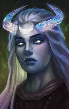 Moon Godlike (Pillars of Eternity), Alice Voitekhovskaya on ArtStation at www. Beautiful Fantasy Art, Dark Fantasy Art, Fantasy Girl, Fantasy Artwork, Fantasy Character Design, Character Inspiration, Character Art, Dnd Characters, Fantasy Characters