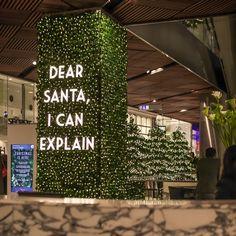 "WESTFIELD SYDNEY SHOPPING CENTRE, New South Wales, Australia, ""Dear Santa, define ""good"", creative by Avatree Lighting Installations, pinned by Ton van der Veer"