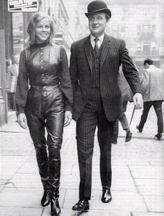 Honor Blackman as Dr. Catherine Gale and Patrick Macnee as John Steed for The Avengers