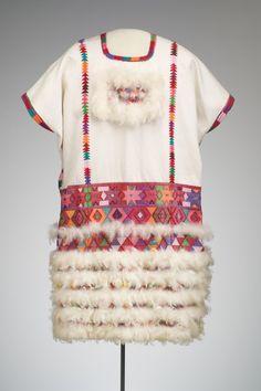 Huipil. Tzotzil (Zinacantan, Chiapas)volantitos de algodon protegen mi corazon...