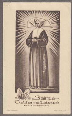 SAINT-CATHERINE-LABOURE-vintage-holy-card-MAREDRET-Edition