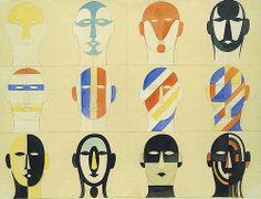 Oskar Schlemmer  Mask Variations  1926