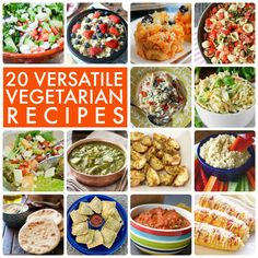 20 Versatile Vegetarian Recipes! Great list for meat free nights! -- Tatertots and Jello