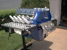 BBQ made from car engine