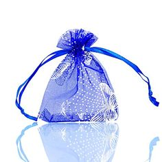 Housweety Blue Butterfly Organza Gift Bags We. Christmas Favors, Christmas Wedding, Wedding Gift Bags, Wedding Favors, Organza Gift Bags, Blue Butterfly, Jewelry Watches, Gifts, Stuff To Buy