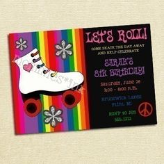 Skate Invitation if we go with peace theme