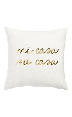 mi casa sequined pillow