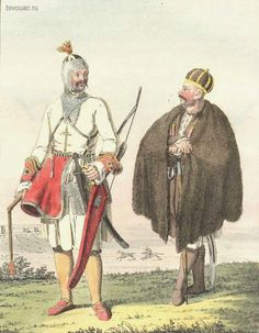 Circassian Circassian prince and simple. Engraving of the XVIII century. Hood. K. G. Geisler.