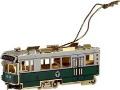 MBTA trolley ornament $28