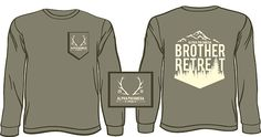 Alpha Phi Omega Brother Weekend Long Sleeve Shirt email red@theredtshirtco.com for a proof and pricing *Ships to North Carolina FREE of charge.  http://theredtshirtco.com/inquire/  #alphaphiomega #brotherweekend #comfortcolors #tshirt #greeklife #theredtshirtco