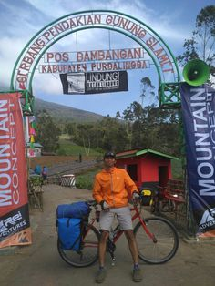 Bicycle touring at Slamet Mountain Gate, Purbalingga, Central Java.