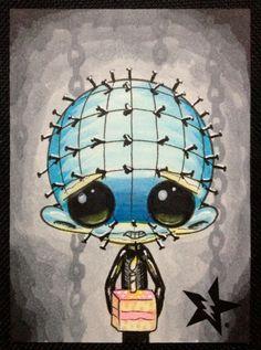 Sugar Fueled Pinhead Hellraiser Horror lowbrow by Sugarfueledart Emo, Horror Art, Horror Movies, Horror Cartoon, Horror Drawing, Goth Art, Voodoo Dolls, Creepy Art, Illustrations