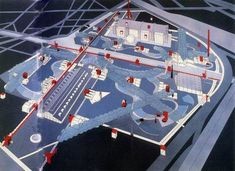 ECO: Parc de la Villette, Bernard Tschumi, Paris (1982-1998): Reclaimed post industrial areas combine urban and rural structures, creating a single eco system.