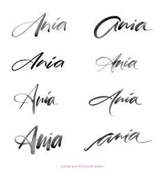 A Brush Calligraphy Logo Design on Behance More