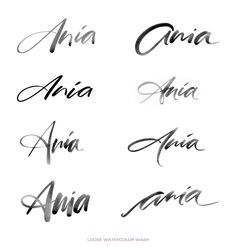 A Brush Calligraphy Logo Design on Behance More