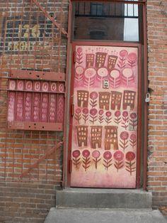 A doorway in NYC. #urban, #cities, #graffiti