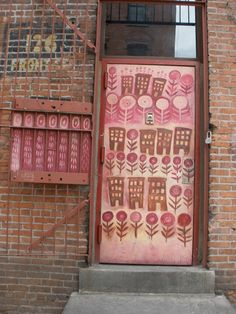 A doorway in NYC.  Pretty in pink's.