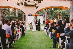 Whimsical Rainbow Wedding:like the backdrop. Sorta