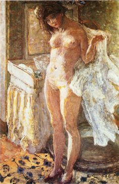In the Bathroom - Pierre Bonnard