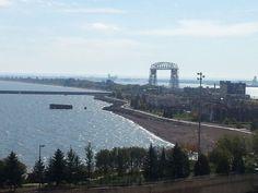 Ariel Lift Bridge by Willa Lavamaki on Capture Minnesota // Lake Superior with Aerial Lift Bridge