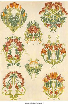 Art Nouveau Florals Via: Little Grey Bungalow: Ephemera