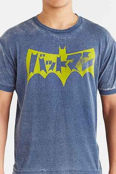 Japanese Batman Burnout Tee - Urban Outfitters