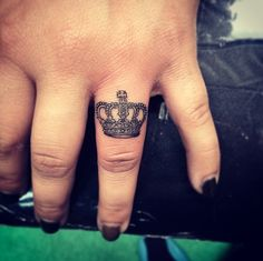 Crown on finger by Isaiah Negrete