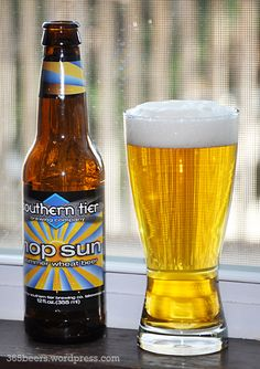 Southern Tier Hop Sun.  Summer is here (sorta), so time for a nicely balanced, slightly hoppy, quite malty, wheat-style ale.  Nice color but not much aroma.  Still, perfect for the season, like a craft PBR.  B